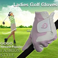 badminton nets for sale - 2016 Hot sale good quality new style net fabric cloth pink golf gloves for ladies OEM logo sports hand gloves