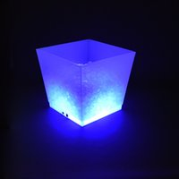 Wholesale Rechargeable LED Ice Bucket Party Cooler L RGB Color changing Beer Cooler