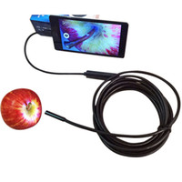 Wholesale 7mm Android Endoscope OTG Micro USB Endoscope Waterproof Borescopes Inspection Camera with LED and M M M M Cable