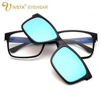 ivsta polarized clip on sunglasses men custom prescription lenses magnetic clips night vision glasses tr90 optical frame 1641
