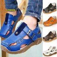 Wholesale Kids Boys Sandals Casual Shoes Leather Shoes Children Baotou Shoes Student Beach Shoes Christmas Party Xmas Gift WX C12