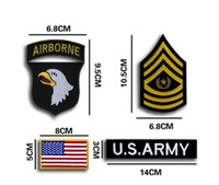 airborne patch - 2016 HOT D Embroidered Pacth with magic tape Armband Eagle New US Army st Airborne Division Patch Subdue Sew on patches GPF
