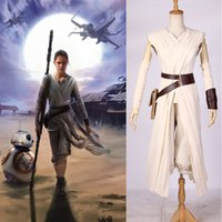 Wholesale Star Wars The Force Awakens Rey Resistance Cosplay Costume Women Carnival Halloween Party Wear