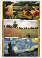 Wholesale Jigsaw paper boxed adult world famous landscape painting gift