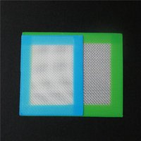 20pcs Silicone Mats Wax Non-Stick Pads Silicon Dry Herb Mat 11 * 8.5cm Food Grade Baking Mat Dabber Sheets Jars Dab Pad Vert Bleu Jaune