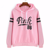 Wholesale new neon Women Hoodies brand vs mint love pink woman letter pattern pullovers Sportswear Fleece French Terry Sweatshirts