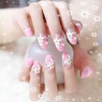 Wholesale Hot Sales False Nails per Set Full Nail French Tips Natural Finger False Fake Art Cover Manicure DH0083