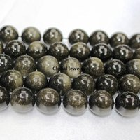 Wholesale Day A gold beads Yaoshi Obsidian beaded handmade beaded DIY material gold more strong energy