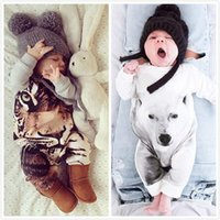 Wholesale 2016 Newborn Kids Baby Boy Girl Warm Infant tiger panda cute Romper Jumpsuit Bodysuit Clothes Outfit
