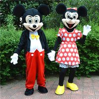 Wholesale High quality minnie Mouse adult mascot costumes fancy dress EPE head carnival costume party x mas