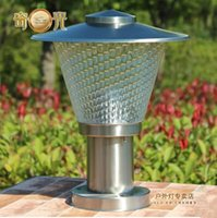 Wholesale Stainless steel outdoor post light LED garden column wall lights waterproof courtyard goalpost lamps V V E27 LED bulb