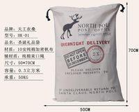 Wholesale pieces santa sack canvas santa sack christmas sack gift bag styles fast delivery