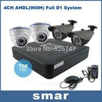 Wholesale CCTV System TVL CH AHDL H DVR Kit Security Camera System Infrared Indoor Outdoor Camera Hybrid DVR Onvif P2P Cloud