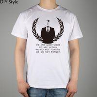 anonymous shirt - GJL JT NOT FORGET ANONYMOUS T shirt Top Lycra Cotton Men T shirt New DIY Style