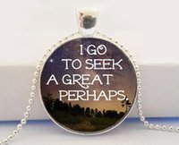 alaska flower - I Go to Seek a Great Perhaps Necklace Looking for Alaska Art Picture Pendant John Green Book Quote Charm Necklace