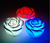 Wholesale Hot Sales Changeable Color LED Rose Flower Candle lights smokeless flameless roses love lamp jgh