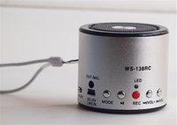 audio recording card - New bluetooth speaker WS RC recording small mini card speaker U disk TF card mp3 portable small cylindrical computer phone audio mini