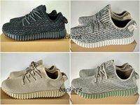 Recensioni Dove-Adidas Yeezy Boost 350 pirata nero tortora Moonrock Oxford Tan Kanye Uomini Donne West Running Shoes Sneakers Yeezys 350 Boost con la scatola