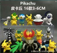 Wholesale 25 Styles Anime Poke Pikachu Torchic Gogoat PVC Action Figure Collectable Model Toy for kids gift retail