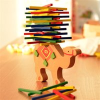 Wholesale Baby Toys Educational Elephant Camel Balancing Blocks Wooden Toys Beech Wood Balance Game Montessori Blocks Gift For Child