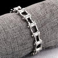 bicycle set designer - Designer Wristband bicycle Chain new sale stainless steel bracelet charms punk rock men jewelry Fast shipping STB2