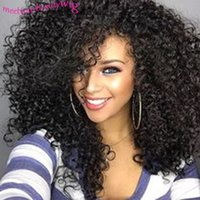 Wholesale 8A brazilian kinky curly Human Hair Wigs Full Lace Wig unprocessed Human Hair Front Lace Wig Natural hairline with baby hair In Stock
