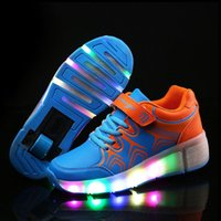 Wholesale New Children Heelys Shoes with Led Lights Kids Roller Shoes With Wheels Wear resistant for Boys Girl Sneakers Zapatillas Con Ruedas