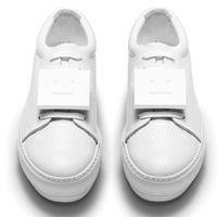 acne shoes - 2016 Acne studios star models Tyrant gold color white color silver color smiley shoes Tide Women Shoes lacing Flats shoes