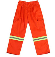 Wholesale Sanitation workers Reflective pant reflective safety clothing Labor reflective garment warning reflective ribbon safety trousers