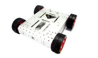 arduino mobile platform - 4WD drive aluminum mobile robot platform for Robot Arduino Sliver