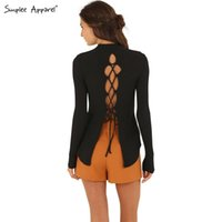 backing up computer - SIMPLEE APPAREL Christmas sexy backless lace up knitted pullover Women tops black split long sleeve back sweater girl pull femme wholesa