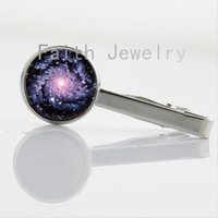 art craft pictures - New Planets Nebula Sunrise Eclipse Galaxy tie clips Solar System Cosmos art picture collar clips Hand Crafted men jewelry NS093