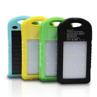 Wholesale Solar Battery Charger Dc - Solar Polymer CellPhone Power Banks 8000mAh Capacity Battery Power Charger with Light Output DC 5.0V 1A  2A xsf2