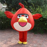 Wholesale 2016 HOT high quality Angry red bird mascot costume for adults Angry red bird mascot costume material