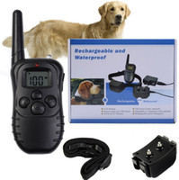 Wholesale Rechargeable Waterproof M LV LCD display DR Electric shock vibra Remote Control Dog Pet Training Collar