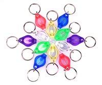Tonelada de color Baratos-DHL mini antorcha libre llavero 7 LED Color clave anillo llavero linterna LED de luces LED UV Bulbos Ton II fotón 2 mini luz con la caja 7E