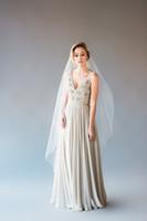 best scallops - Top Quality Best Sale Romantic wedding veil scallop fingertipe Bridal Veils With Comb Cut Edge