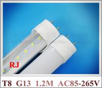 Wholesale LED tube light lamp LED fluorescent tube SMD led lm led T8 G13 mm m feet lm W AC85 V high bright