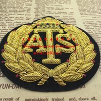 ats imports - Fallout Badge Gear Solid Spot Imported Ats Advanced Suit Label Exquisite Handmade Gold Wire Hand Embroidered Down Jacket cm