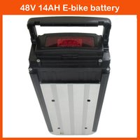 Wholesale High quality W v AH battery for Electric Bike with black Aluminum case A BMS V A charger