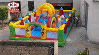 inflatable games inflatable bouncer - Custom jumping fun city for little kids education city inflatable bouncer games