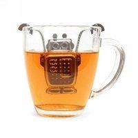 Wholesale Stainless Steel Hanging Robot teapot Loose Tea Infuser colander tetera Leaf Strainer Filter Diffuser Kettle utensils for tea