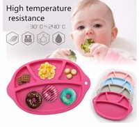 Wholesale Newest Baby Fruit Plate FDA Silicone Infant Tableware Baby Placemat Baby Dish Shape Mat for kid Christmas Gifts