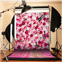 Wholesale 5Feet Feet Beautiful Flowers Photography Backgrounds Children Backdrops Photographic Vinyl Backgrounds For Photography