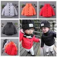 Wholesale Fedex DHL Free Kids Boys Girls Winter Spring Clothes Baby Cotton Warm Jacket Long sleeve down coats children Coat Thick High Neck Coat M471