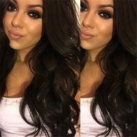 Wholesale Color Hair For Brown Skin - Peruvian human hair Front lace wig&full lace wig Glueless Natural skin hairline for black women