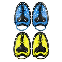 Wholesale Pro Swimming Fins Pair Adjustable Swimming Hand Paddles Fins Flippers Training Pool Diving Gloves padel Aletas for Men Women Y2293