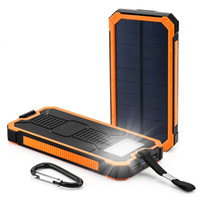 Wholesale Outdoor Waterproof mah Solar Charger with SOS LED Light Dual USB A A for Cellphone Pad
