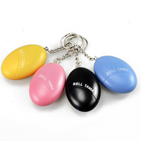 Wholesale Egg Shape Self Defense Alarm Girl Women Anti Attack Anti Rape Security Protect Alert Personal Safety Scream Loud Keychain Alarm