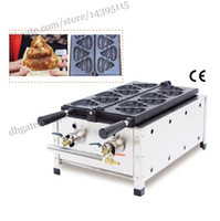 Wholesale Korean style fat burning waffle gas type shit shaped waffle maker commercial gas excrement shape waffle machine